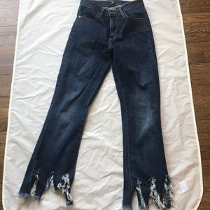 Frayed bottom jeans